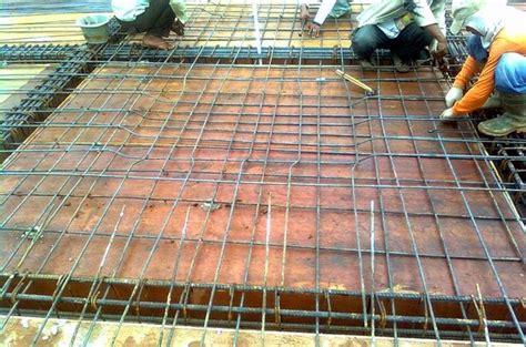 Besi Bar Konstruksi cara dan teknis kerja memasang besi tulangan pelat lantai