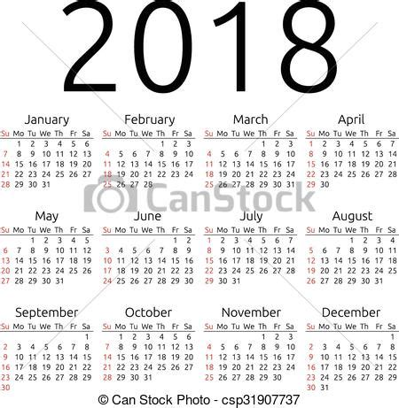 Calendario 2018 Macau Vektory S T 233 Matem Kalend 225 ř Vektor 2018 Neděle