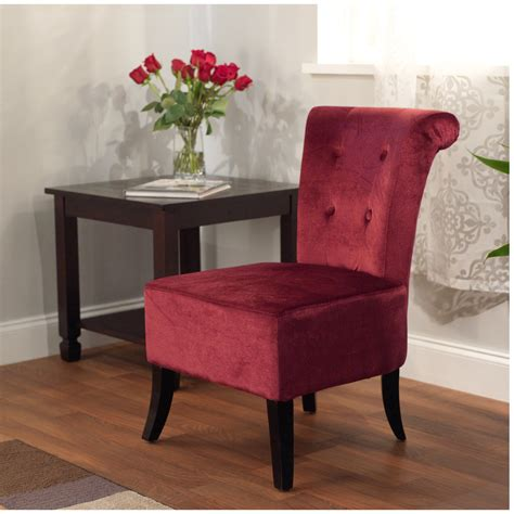 Ideas For Armless Accent Chairs Design Velvet Armless Accent Chair With High Back And Brown Wooden Leg Beside Corner Oak Coffe