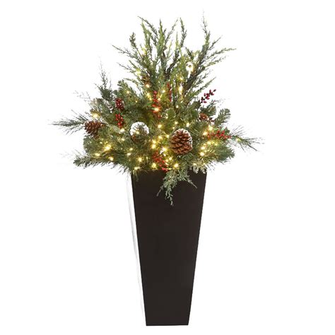 christmas tree fillers battery powered led mountain pine urn filler