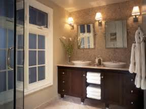 Spa Bathroom Lighting Bathroom With Woven Marble Wall Hgtv
