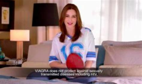 Viagra Commercial Actress With Football Jersey | bizarre viagra commercial is not a touchdown