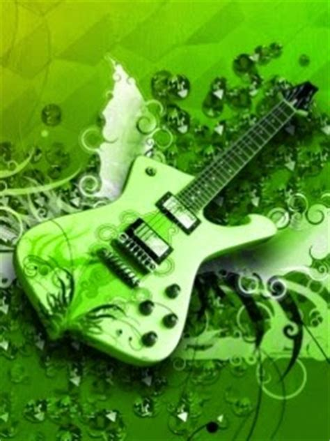 wallpaper green guitar green guitar 240x320 hd mobile music wallpaper mobile