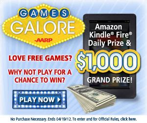Aarp Sweepstakes Entry - enter the aarp games galore sweepstakes free sweepstakes contests giveaways
