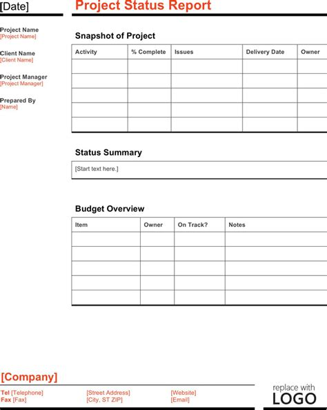 project status report template excel filetype xls weekly progress report template weekly status report