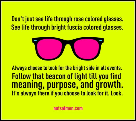beacon of light meaning don t just see life through rose colored glasses see life