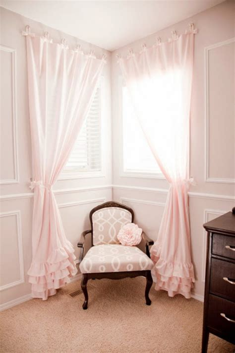 curtains for a corner window corner window curtains styles of decorating ideas homesfeed