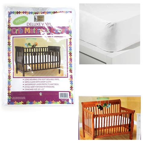 Crib Mattress Measurements Crib Size Fitted Mattress Cover Vinyl Toddler Bed Allergy Miami Florida