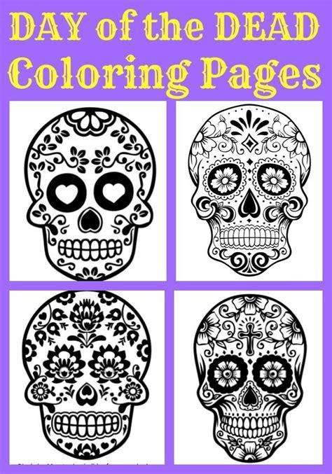 day of the dead coloring pages pdf 219 besten printable sugar skulls coloring bilder auf