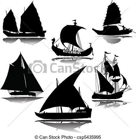 dessin bateau silhouette vecteur clipart de vieux bateau vecteur silhouette