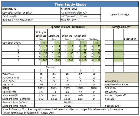 time and motion study template 28 images of lean time study template infovia net