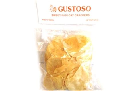 gustoso emping manis mentah sweet padi oats crackers