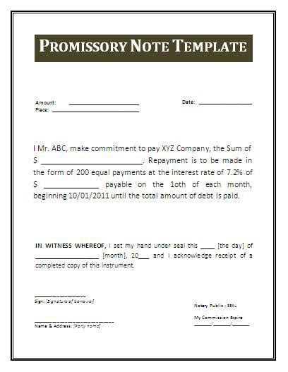 Free Promissory Note Template Cyberuse Simple Promissory Note Template