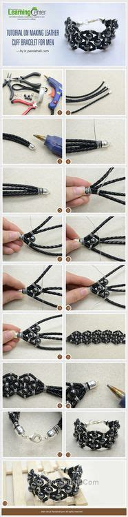 jewelry tutorial diy leather cuff bracelet for your