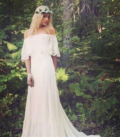 Hochzeit 70er Stil by Boho Hochzeitskleider Lieber Blumen Im Haar