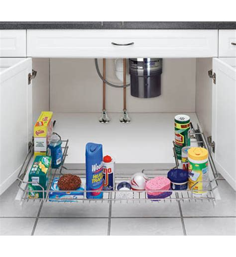sliding sink organizer u shaped in sink