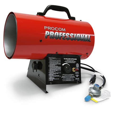 Propane Forced Air Garage Heater by Procom 174 15 000 60 000 Btu Liquid Propane Forced Air Heater