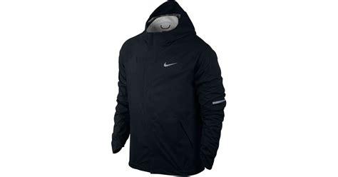 Jaket Nike Parka Taslan Black lyst nike s shieldrunner fit jacket in black