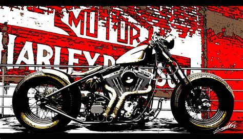 Poster Harley Davidson 1 savage roads vintage harley posters ii