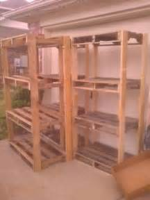 Garage Storage With Pallets Best 25 Pallet Shelves Ideas On Pallet