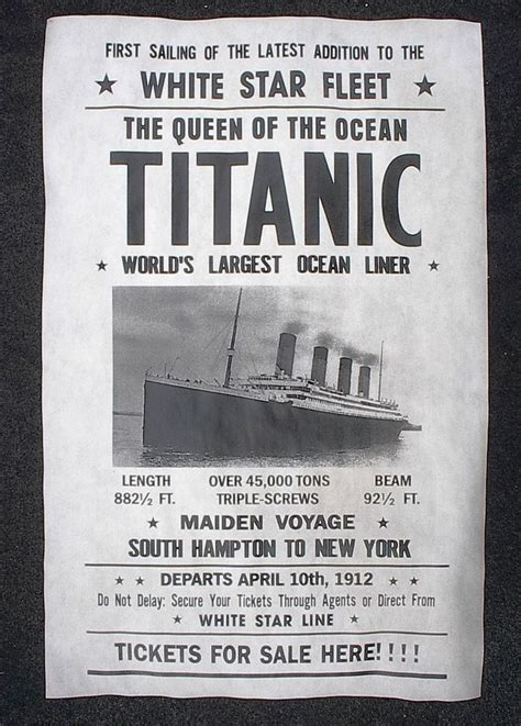 titanic boat tickets 066 vintage reprint advert titanic ship tickets for sale