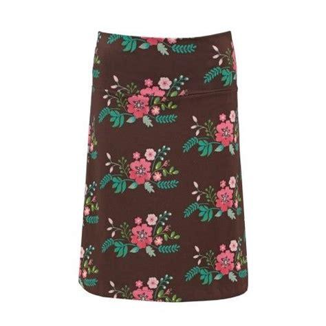Flower Skirt Rok tante betsy skirt bouquet brown floral print rok