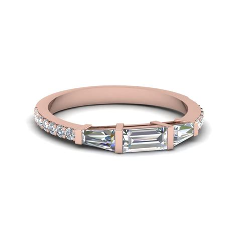 Wedding Bands Baguette Diamonds by Baguette And Thin Band Fascinating Diamonds