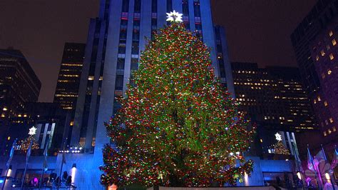 icymi rockefeller center christmas tree illuminated nbc