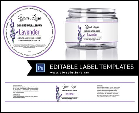 Label Template Id11 Aiwsolutions Product Label Templates