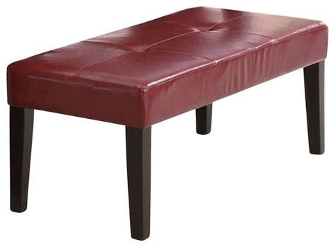 monarch specialties bench monarch specialties 48 inch leather look bench in burgundy
