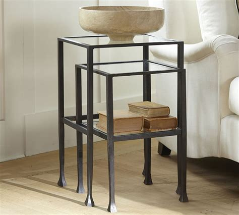 pottery barn side table pottery barn nesting side tables copy cat chic