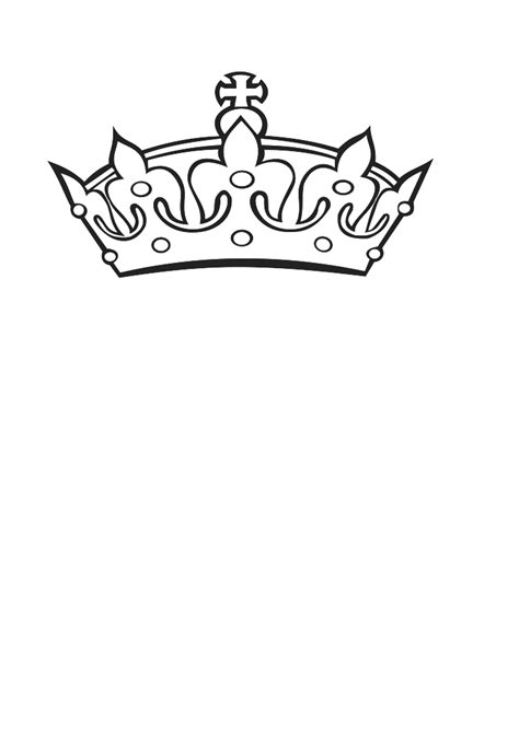 crown template black and white crown outline cliparts co