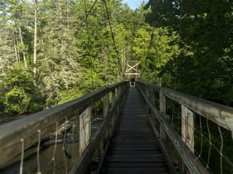 swinging bridge over toccoa river a guide to the perfect outdoor weekend in blue ridge