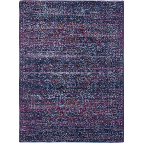 purple and blue rug surya harput purple blue area rug wayfair