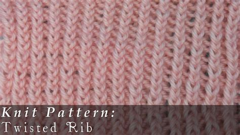 knitting in the twisted twisted rib knit