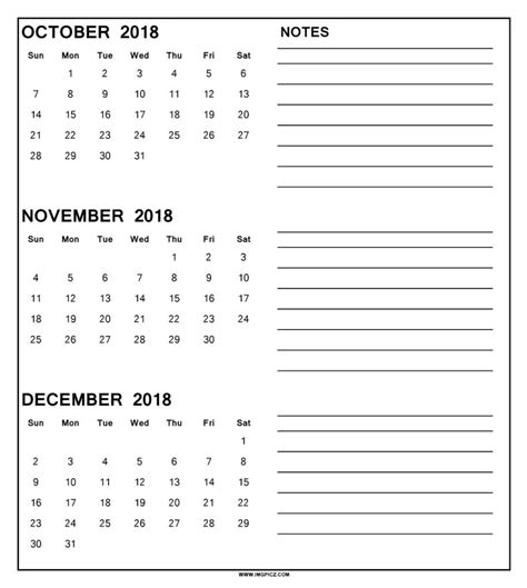 printable calendar october november december 2017 calendar october november december 2018 happyeasterfrom com