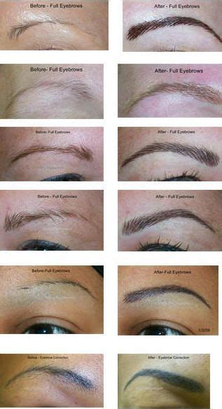 tattoo eyebrows tutorial 31 best makeup for downturned and hooded eyes images on