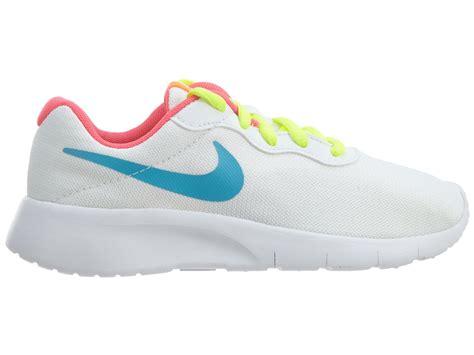 youth shoes size 3 nike tanjun 818385 100 white blue pink