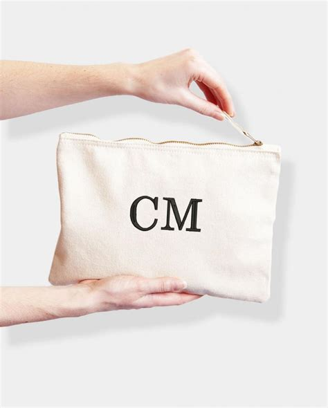 personalised monogram bag embroidered  initials