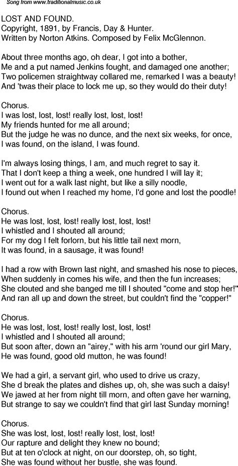lost lyrics time song lyrics for 36 lost and found