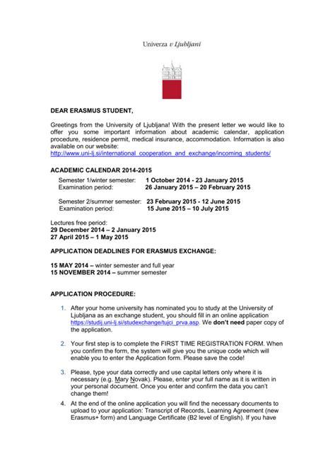 Cover Letter Erasmus Mundus by Cover Letter Erasmus
