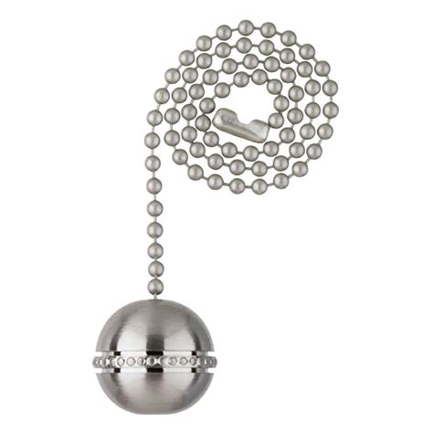 ceiling fan pull chain ornaments westinghouse brushed nickel beaded ball pull chain 7710400