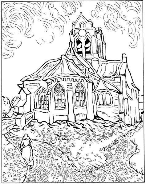 Free Vincent Gogh Coloring Pages Vincent Gogh Coloring Pages