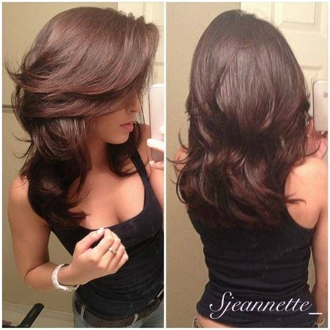 hair styles cut hair in layers and make curls or flicks layered hairstyles for long and straight hair