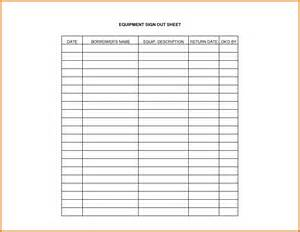 sign in and sign out sheet template equipment sign out sheet template projects to try