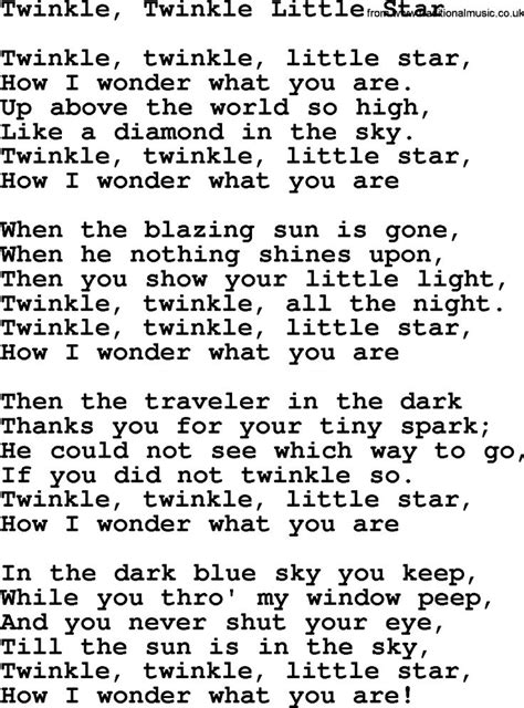 twinkle testo 17 best images about fingerplays poems songs on