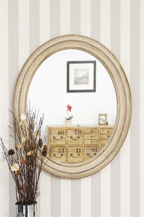 shabby chic antiques shabby chic antique style oval mirror 91x78cm