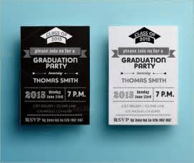 graduation invite templates sle graduation card template 10 documents in psd