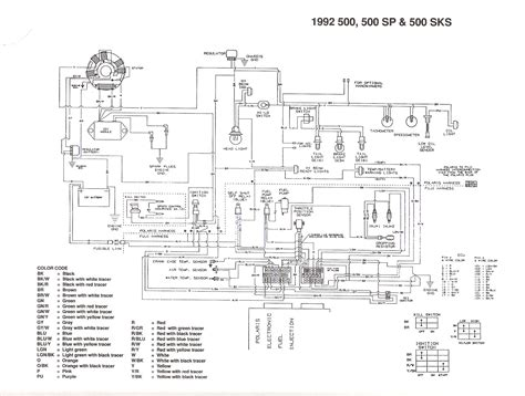 polaris 600 snowmobile wiring diagram wiring diagram