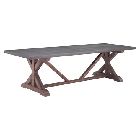 distressed gray dining table zuo durham gray and distressed fir dining table 100500